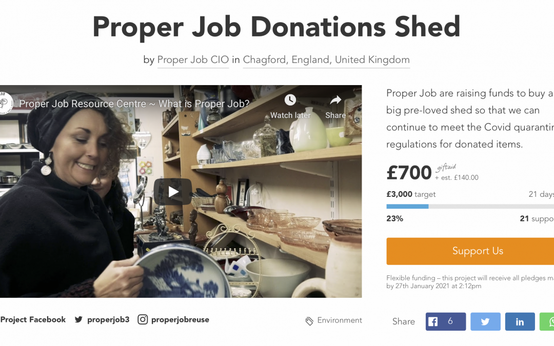 Donations Shed Crowdfunder